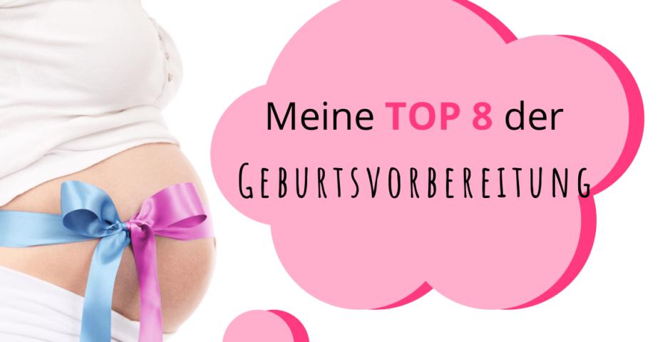 TOP 8 Geburtsvorbereitung Frau mit Babybauch und Schleifen