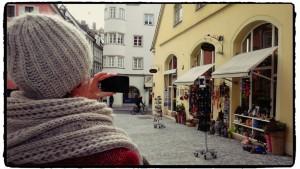 Blogger bei der Arbeit in Regensburg