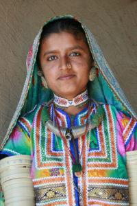 Stammesfrau in Indien