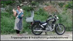 Motorradfahren mit Baby