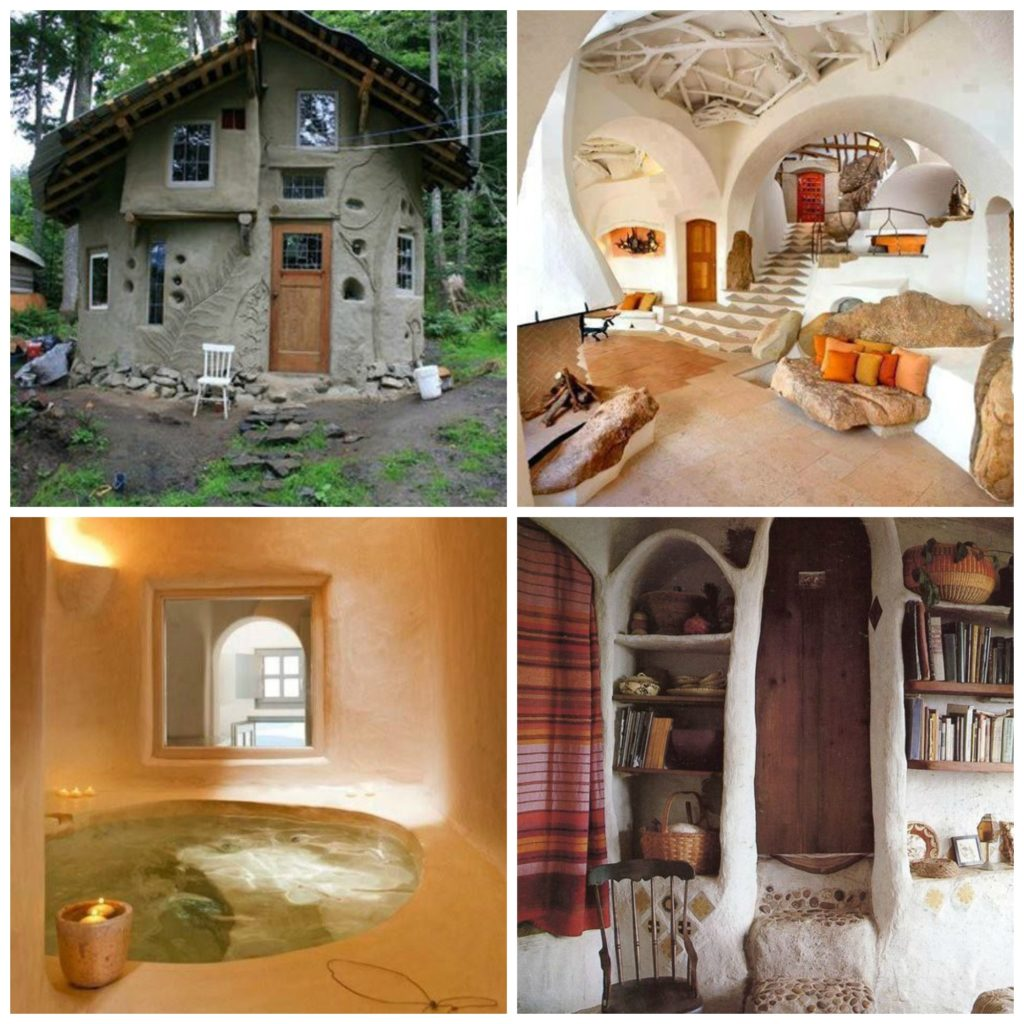 Cob House Collage