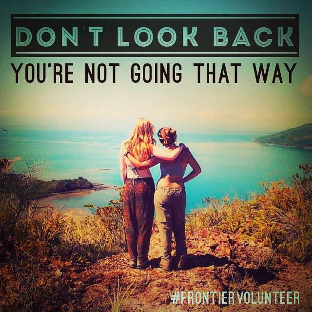 Don´t look back - you ar not going that way