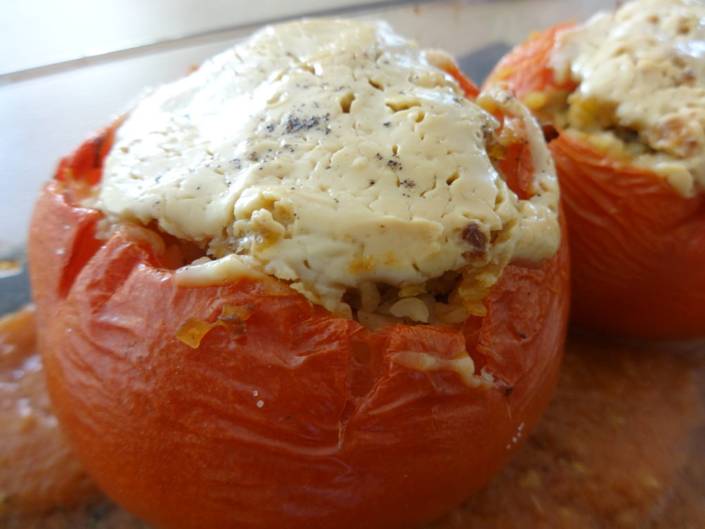 Tomaten - Bulgur - Mandelmus