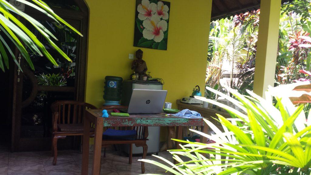 Mein Arbeitsplatz in Ubud