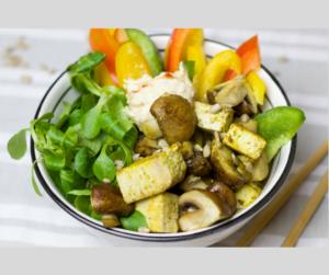 Gemüsebowl mit Tofu