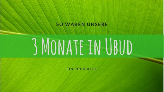 So waren unsere drei Monate in Ubud - Titelbild