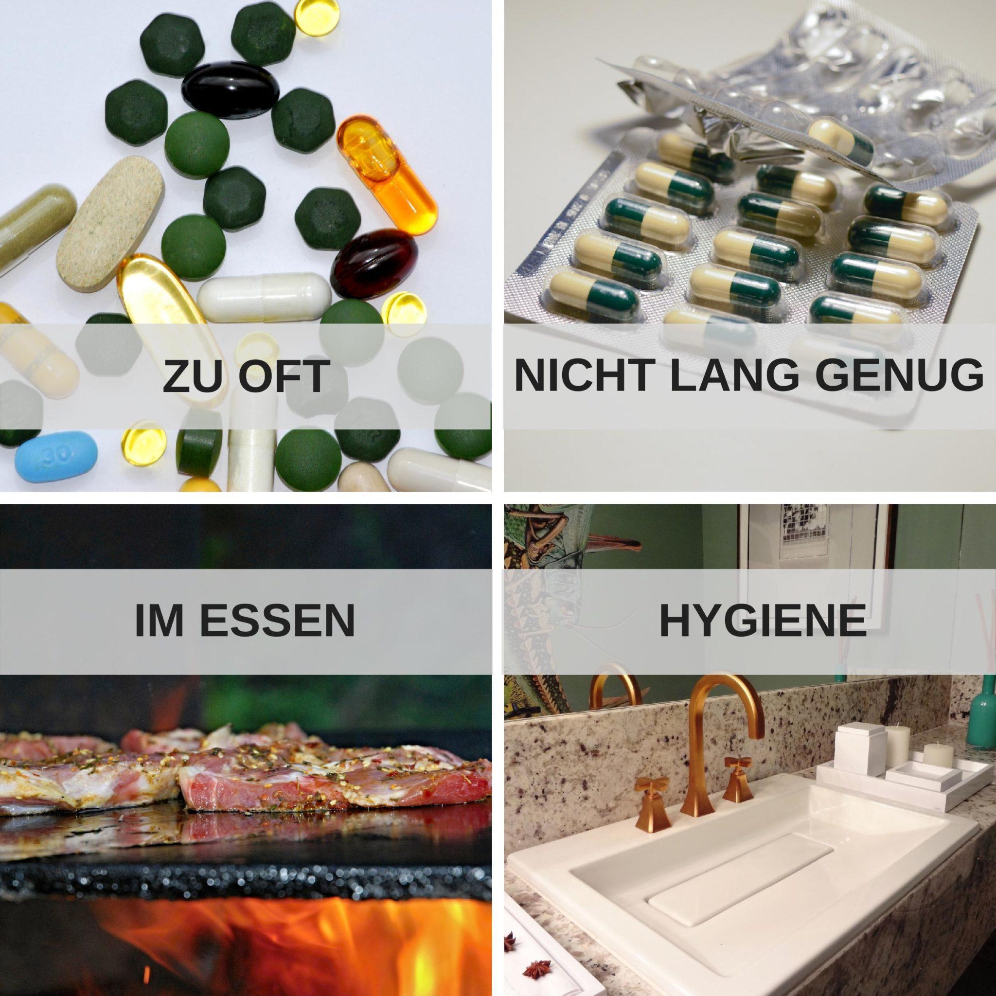 Ursachen für Antibiotikaresistenz