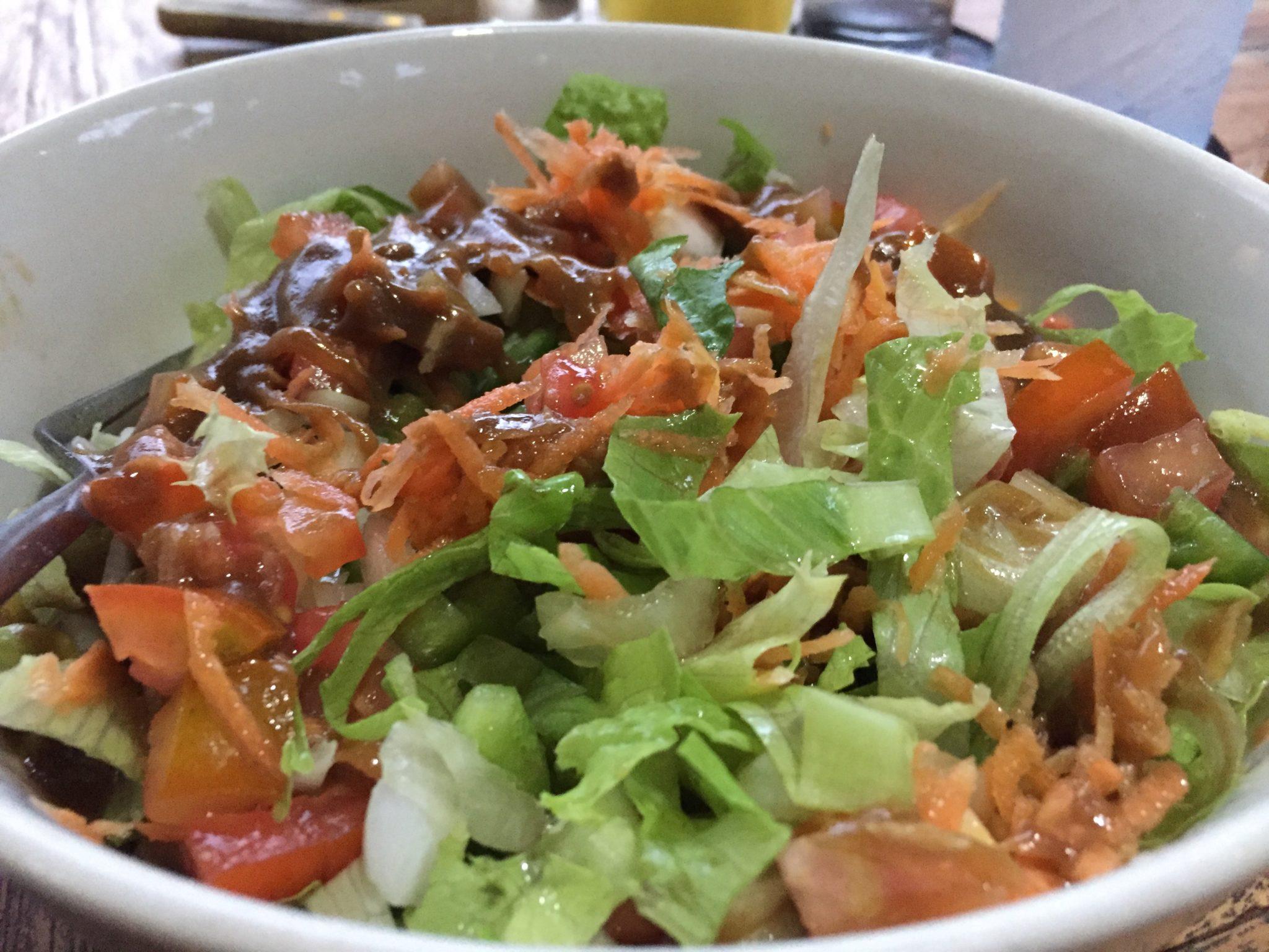 Gartensalat in Ubud