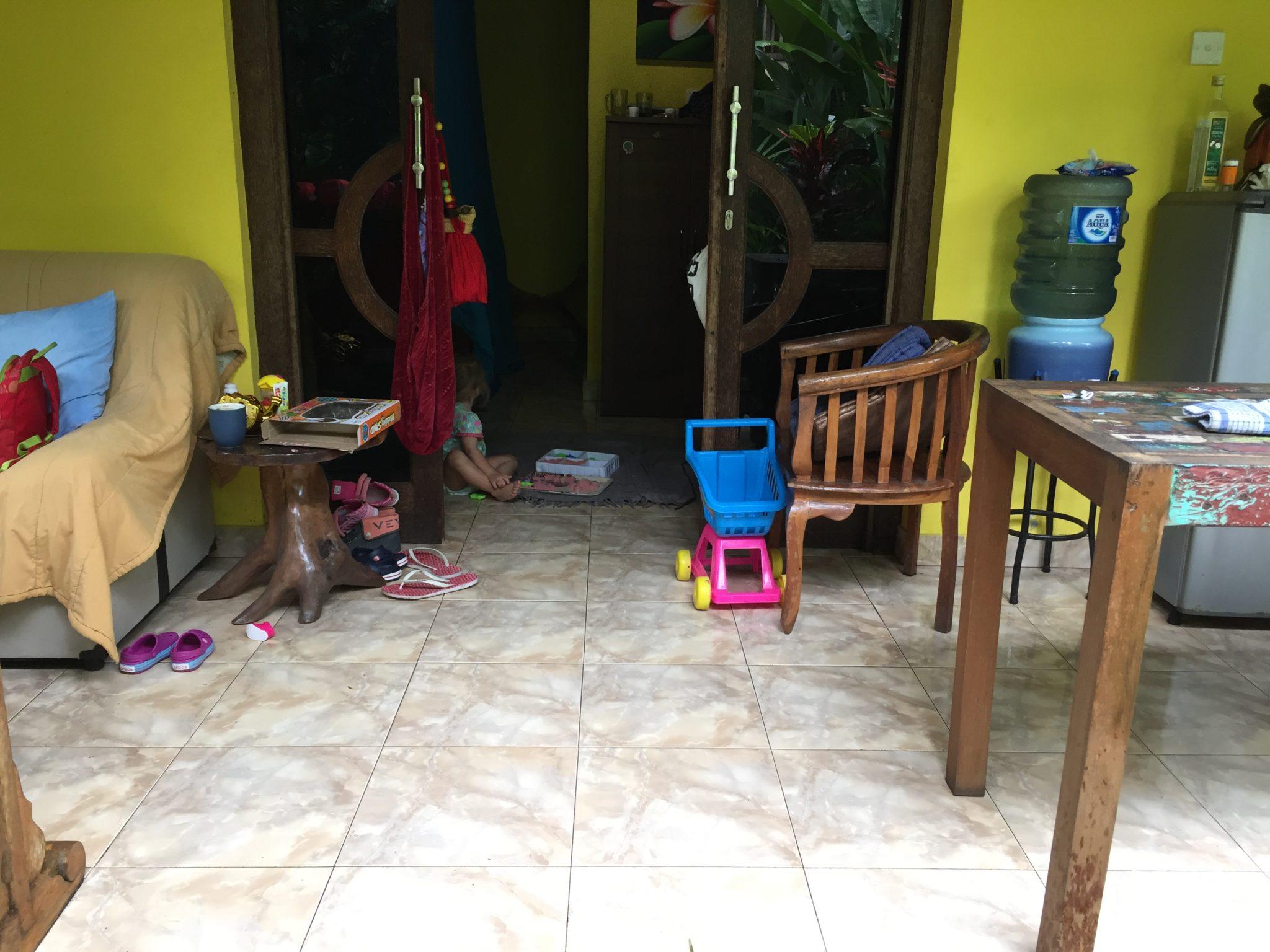 Chaos in der Hütte.
