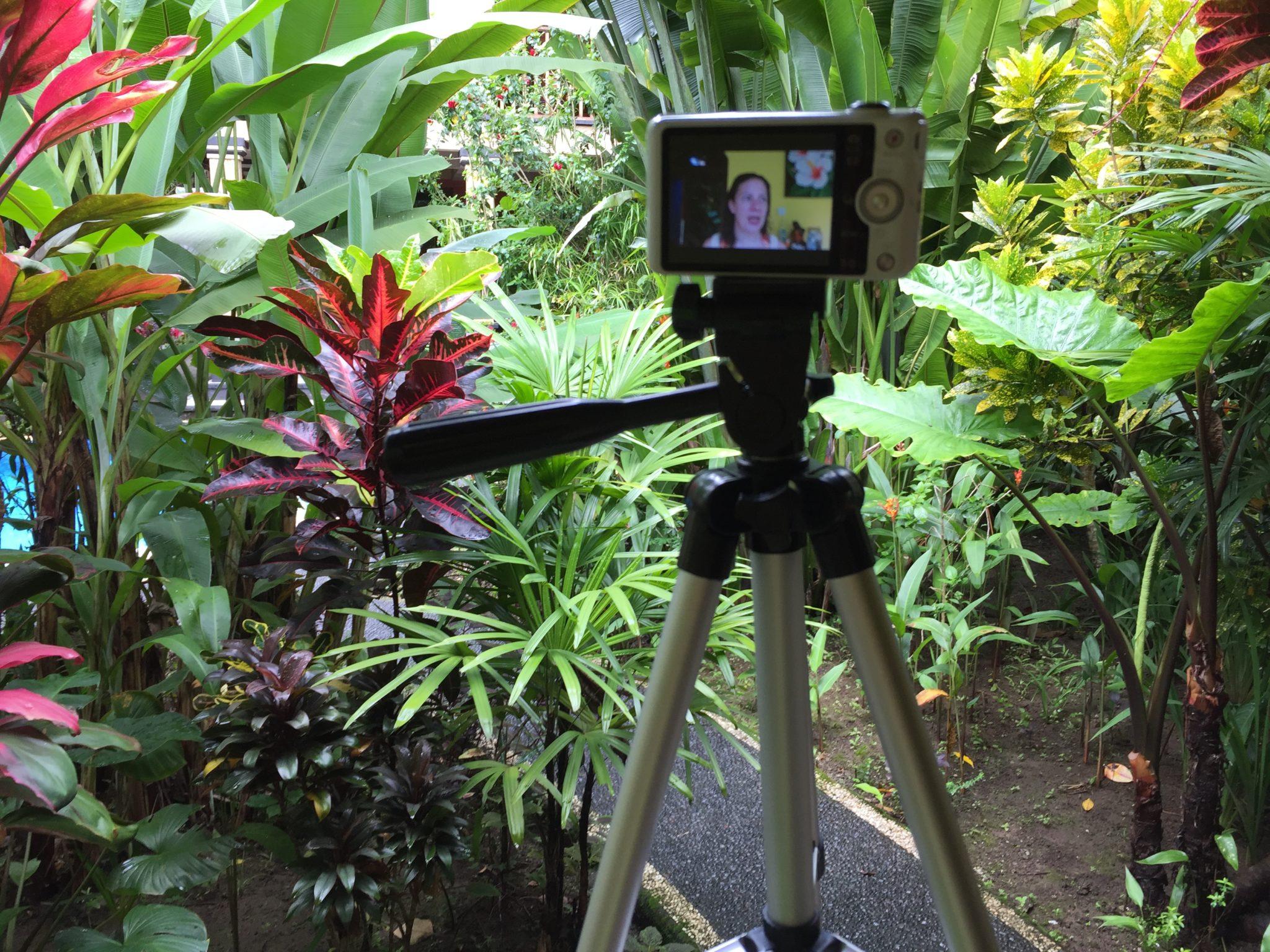Video im Garten gedreht.